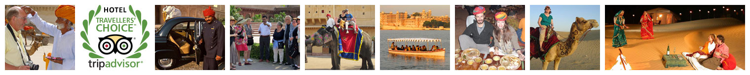 Warm Welcome | Hotels Reviewed by Trip Advisor | Chauffer Driven Air Conditioned car | Guide Educate to Group | Elephant Ride at Amber Fort | Boat Ride at Udaipur | A Rajasthani Dinner at Jaipur | Camel Ride at Jaisalmer | The Grand Cultural Program by Rajasthani Folk Artists.